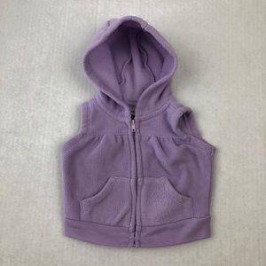 3/$15 Kidgets Lavender Zip Hoodie Vest 0-3 Month